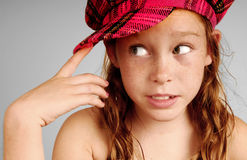 Young girl thinking Stock Photo