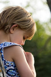 Young Girl in Thought Royalty Free Stock Photography
