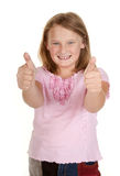 Young girl thumbs up Royalty Free Stock Image