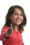 Young girl thumbs up Royalty Free Stock Photo