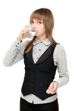 Young girl to drink water Royalty Free Stock Images