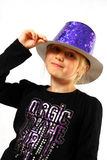 Young girl in a topper stock photography