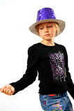 Young girl in a topper royalty free stock photo