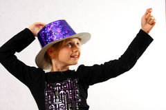 Young girl in a topper Royalty Free Stock Photography