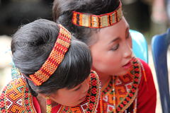 Young Girl at Toraja Funeral Ceremony Royalty Free Stock Photos