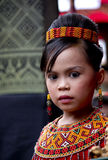 Young Girl at Toraja Funeral Ceremony Royalty Free Stock Photo