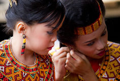 Young Girl at Toraja Funeral Ceremony Stock Photo