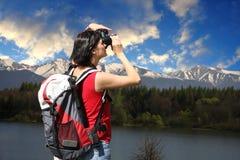 Young girl tourist Stock Image