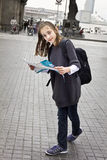 Young girl tourist Royalty Free Stock Photography