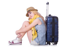 Young girl traveller Royalty Free Stock Photo