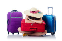 Young girl travelling Royalty Free Stock Photos