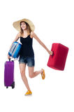 Young girl travelling Stock Image