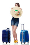Young girl travelling Stock Photo