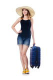Young girl travelling Royalty Free Stock Image