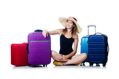 Young girl travelling Stock Photography