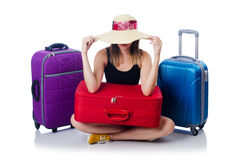 Young girl travelling Stock Photos