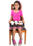 Young Girl With Tray of Tea IV Stock Photography