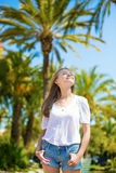 Young girl on a tropical resort Stock Photography