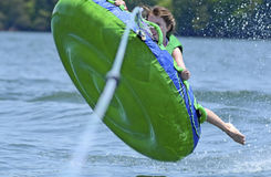 Young Girl Tubing Stock Image