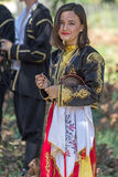 Young girl from Turkey in traditional costume 4. ROMANIA, TIMISOARA - JULY 10, 2016: Young girl from Turkey in traditional costume, present at the international royalty free stock photography