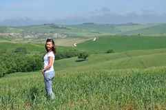 Young girl at the Tuscany. Italy Stock Photography