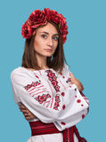 Young girl in the Ukrainian national suit Stock Image