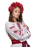 Young girl in the Ukrainian national suit Royalty Free Stock Photos