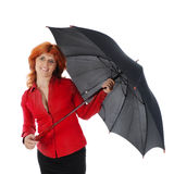 Young girl with an umbrella. Royalty Free Stock Photography