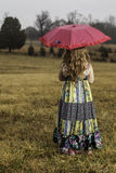 Young girl with umbrella Royalty Free Stock Image