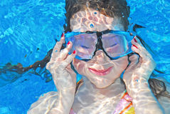 Young girl under water royalty free stock photo