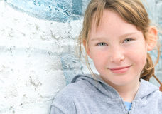 Young girl in urban setting royalty free stock photography