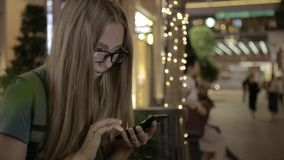 Young Girl Using Smartphone stock footage