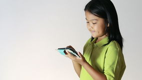 Young girl using tablet Royalty Free Stock Photography