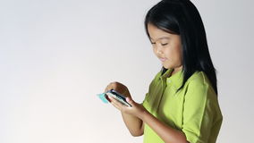 Young girl using tablet Stock Photo