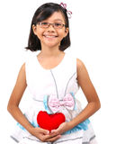 Young Girl Valentine II Royalty Free Stock Photos