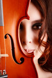 Young girl with violin Royalty Free Stock Image
