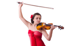 Young girl with violin Stock Photos