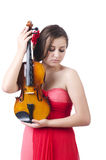 Young girl with violin Royalty Free Stock Photo
