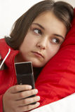 Young Girl Waiting For Phone Call Royalty Free Stock Photo
