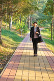 The young girl on walk Royalty Free Stock Photos