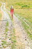 Young girl walking Stock Image