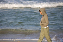 Young girl walking Royalty Free Stock Photos