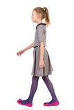 Young girl walking Stock Photo