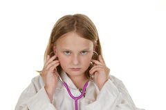 Young girl wants to be a doctor Royalty Free Stock Images
