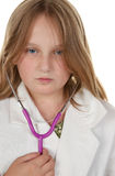 Young girl wants to be a doctor Stock Image
