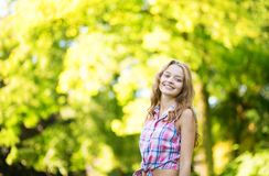 Young girl on a warm and sunny fall day Stock Image