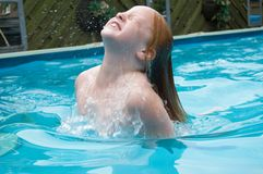 Young girl in water Royalty Free Stock Photo