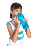 Young Girl With Water Bottle II Stock Photos