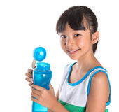Young Girl With Water Bottle V Royalty Free Stock Photos