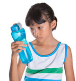 Young Girl With Water Bottle VI Stock Photography